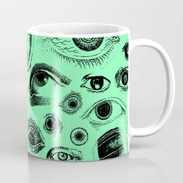 Eye See You Vintage Eye Illustration Pattern Coffee Mug