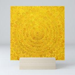 Golden Flower Mandala Mini Art Print