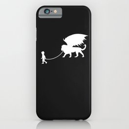 Manticore Pet Walked By Boy iPhone Case