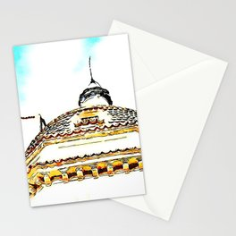 Bell tower and dome of the sanctuary Saint Francis of Paola Stationery Cards