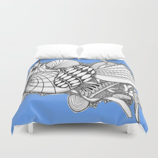 Gifts from the Sea Zentangle Style Duvet Cover