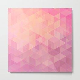 Geometric Pink  Metal Print