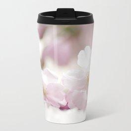 Delicate and fliligrane flowering of the almond tree Travel Mug