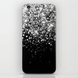 Silver Gray Black Glitter #3 (Faux Glitter - Photography) #shiny #decor #art #society6 iPhone Skin