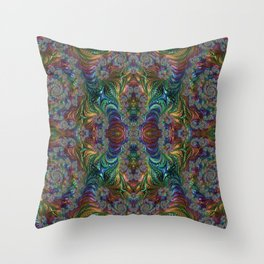 Take me to your l34der Throw Pillow