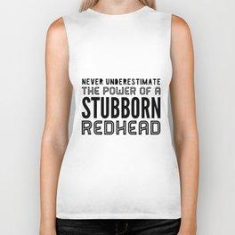 STUBBORN REDHEAD V Neck t-shirts Biker Tank