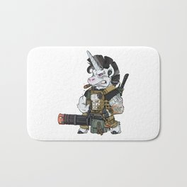 Badass Unicorn Army Military Operator Bath Mat