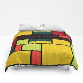Mondrian Bauhaus Pattern #09 Comforters