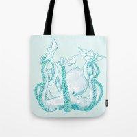kraken Tote Bags featuring Kraken by Badaro