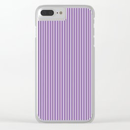 Purple Pinstripes Clear iPhone Case