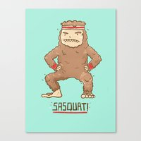 sasquatch Canvas Prints featuring Sasquatch by Darel Seow