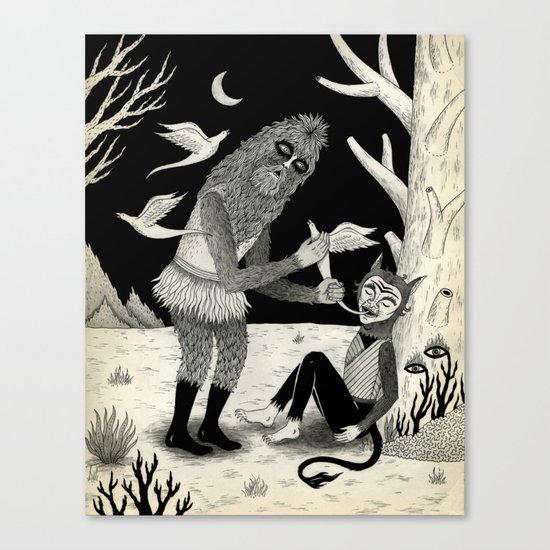Thievery in the Woods Canvas Print