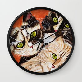 Bonnie, Clyde and Chiara Wall Clock