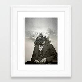 Head in the clouds II Framed Art Print