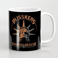 discount Mugs featuring Snake Plissken's Search & Rescue Pty. Ltd. by 6amcrisis