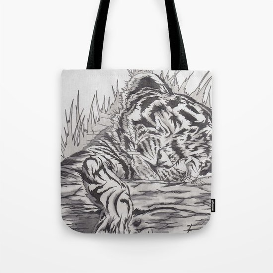 cute tiger Tote Bag