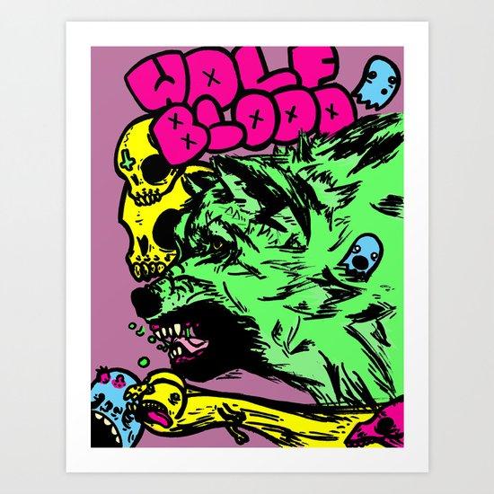 Wolf Blood Redux Art Print