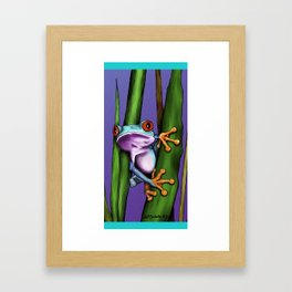 Peeking Frog Framed Art Print