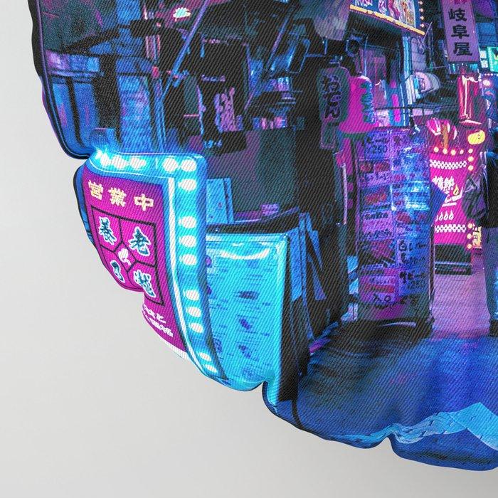 Tokyo's Blade Runner Vibes Floor Pillow