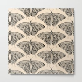 swallowtail butterfly pale peach black Metal Print
