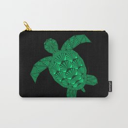 Art Deco Turtle on Black Carry-All Pouch