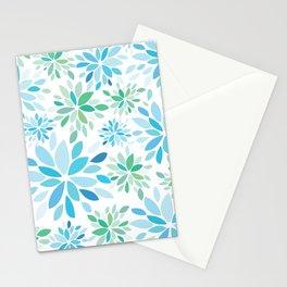Nature's Healing Mandala Blue Stationery Cards