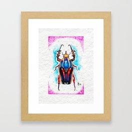 Crazy Buddy Framed Art Print