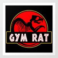 GYM RAT BODYBUILDING FITNESS Art Print
