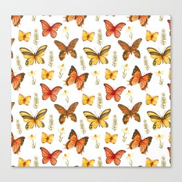Butterfly Totem White Background Canvas Print