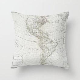 America divided into North and South with their several subdivisions and the newest discoveries Throw Pillow