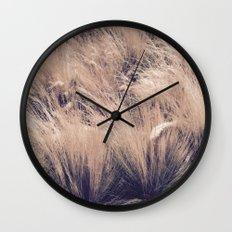 Golden Grass Wall Clock