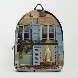 Blue Shutters in the Sun Backpack