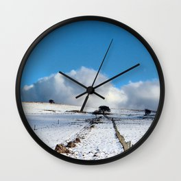 Rolling clouds in the peak district Wall Clock