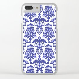 Floral Pattern 2 Clear iPhone Case