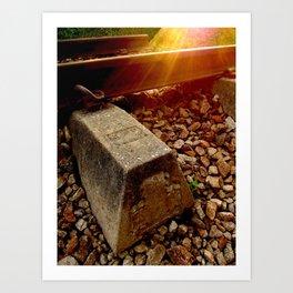 The Humble Rail Art Print