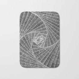black and white spider web Bath Mat