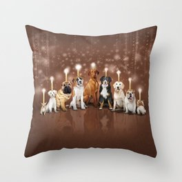 Hot Dog, It's Hanukkah! Throw Pillow
