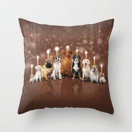 Hot Dog, It's Hanukkah! Throw Pillow