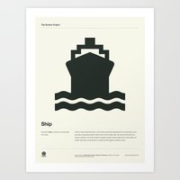 ship Art Prints featuring Ship by Alejandro Díaz