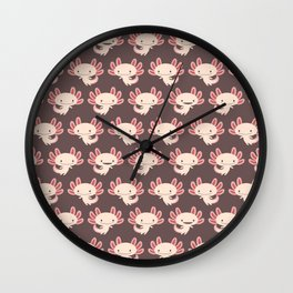 Cute axolotls Wall Clock