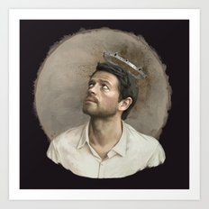Castiel. White crown. Art Print