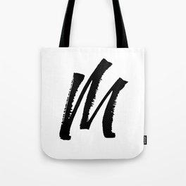 Letter M Ink Monogram Tote Bag