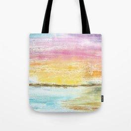 Magic Sunset Watercolor Art Tote Bag