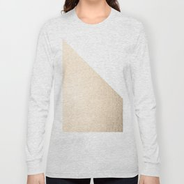Simply Shadow in White Gold Sands Long Sleeve T-shirt
