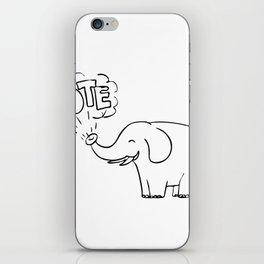 White Elephant Vote Drawing iPhone Skin