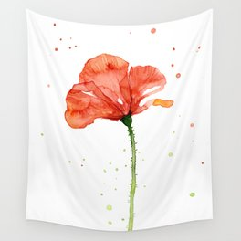Abstract Red Poppy Flower Wall Tapestry