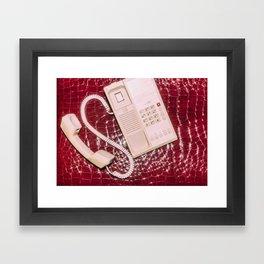 Phone on Crocodile Skin Framed Art Print