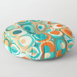 Orange and Turquoise Dots Floor Pillow