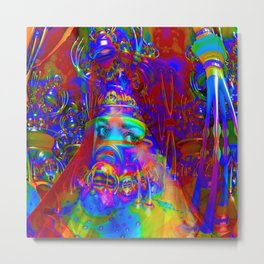 Cyborg Creation Metal Print