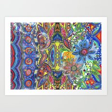 Abstract Intense Bright Art Print